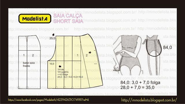 ModelistA: SAIA CALÇA - SHORT SAIA