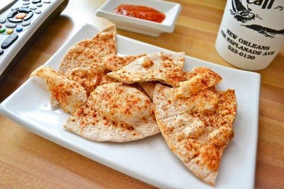 QUICK & EASY 'HOMEMADE' TORTILLA CHIPS | food/recipes | Pinterest