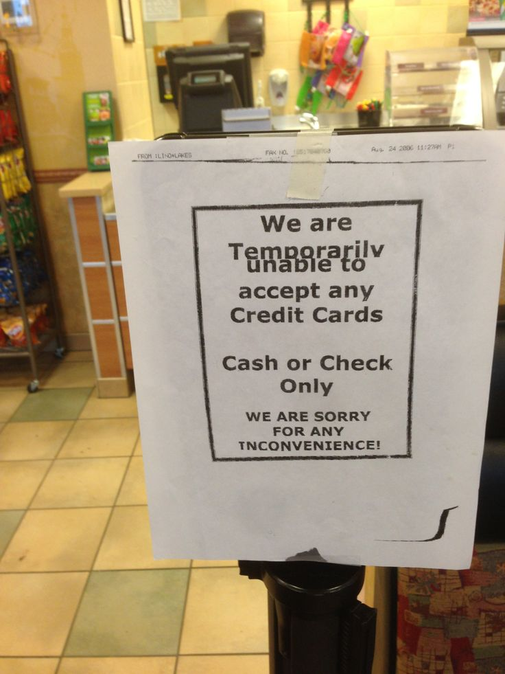 credit cards accepted at superstore