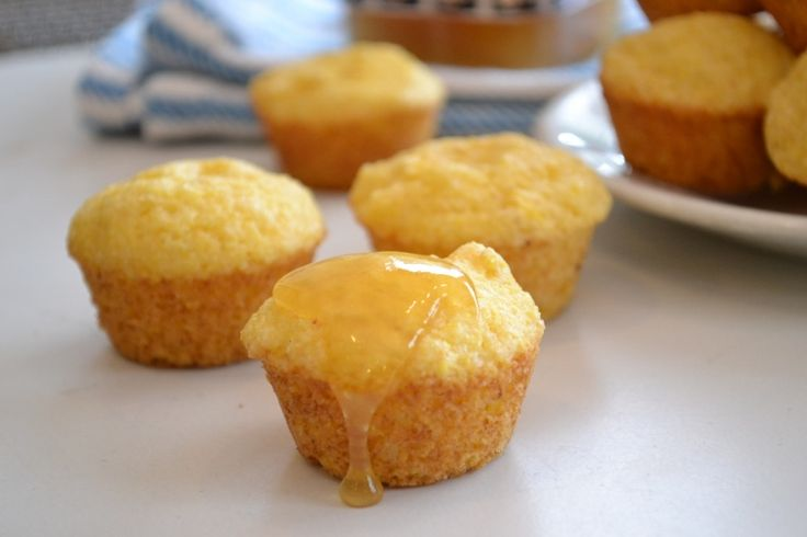 Mini Orange Honey Cornbread Muffins made with Greek Yogurt, from ...