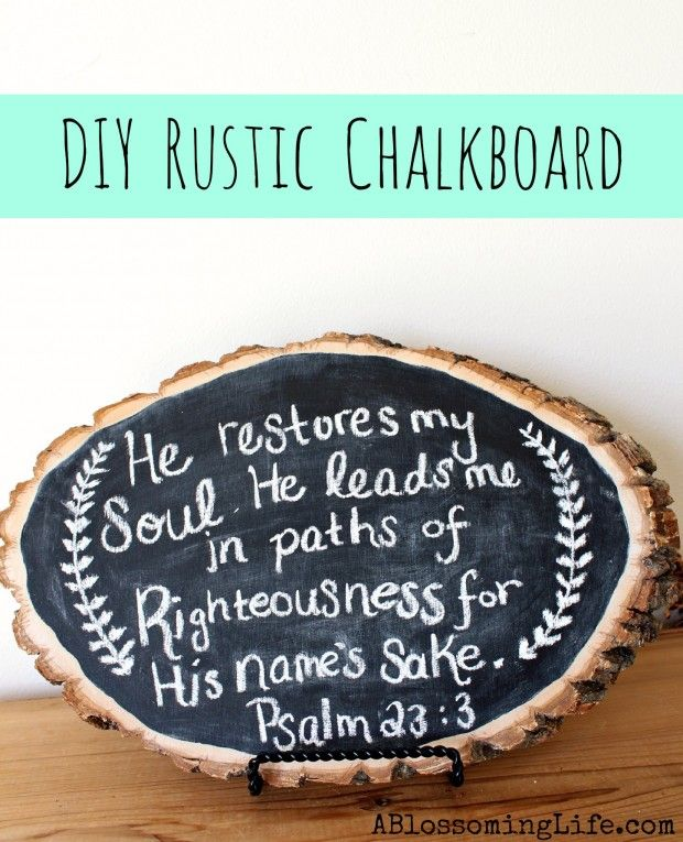 Rustic Wood Chalkboard - 27 Briliant DIY Home Decor Projects That Will Make Your Home Unique
