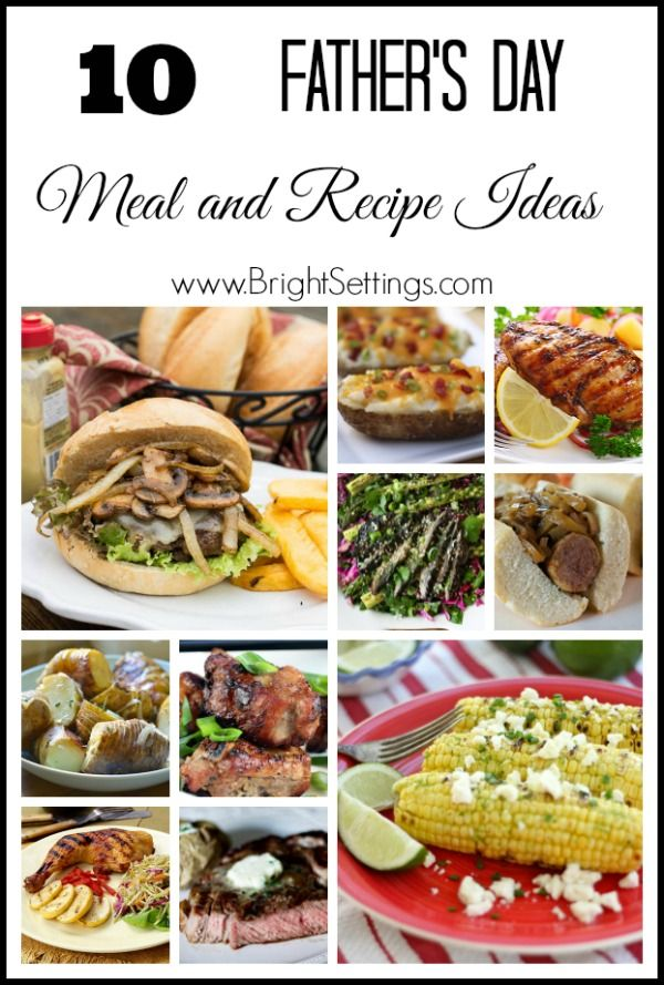 father's day dinner meal ideas