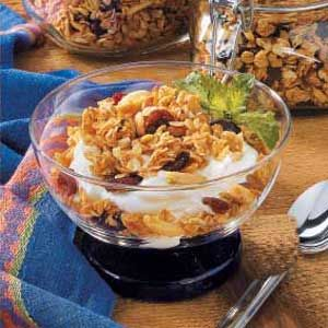 Cherry Almond Granola - made this yesterday - perfect crunchy topping ...