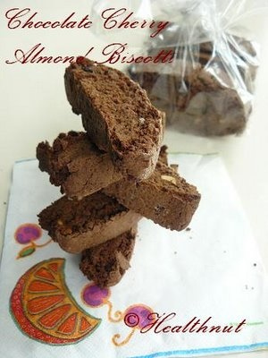 Chocolate Almond Cherry Biscotti | Biscotti | Pinterest