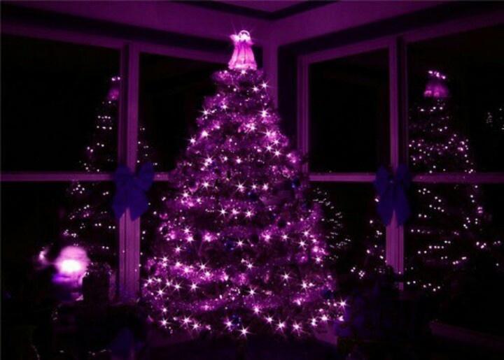 purple christmas tree black purple pinterest