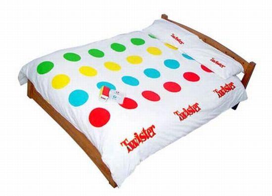 it would be fun kinky bed sleeping home bedroom twister fun