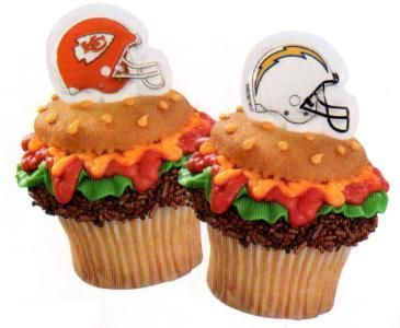 Tailgating Cupcakes - use official licensed NFL cupcake rings to make ...