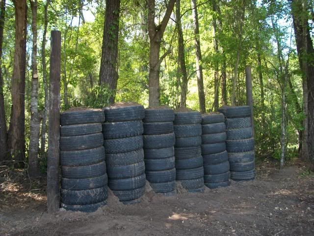 Backyard Archery Range Backstop : Tire and dirt backstop  TacticalShooting Sports  Pinterest
