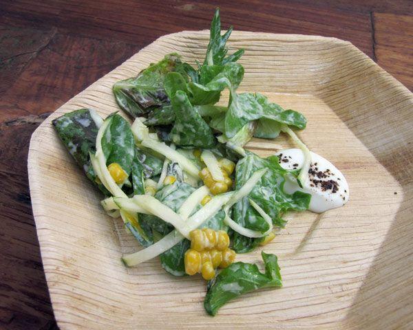 Salad of Zucchini, Corn, and Smoked Yogurt | Recipe