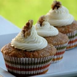 Carrot Cupcakes with White Chocolate Cream Cheese Icing Allrecipes.com
