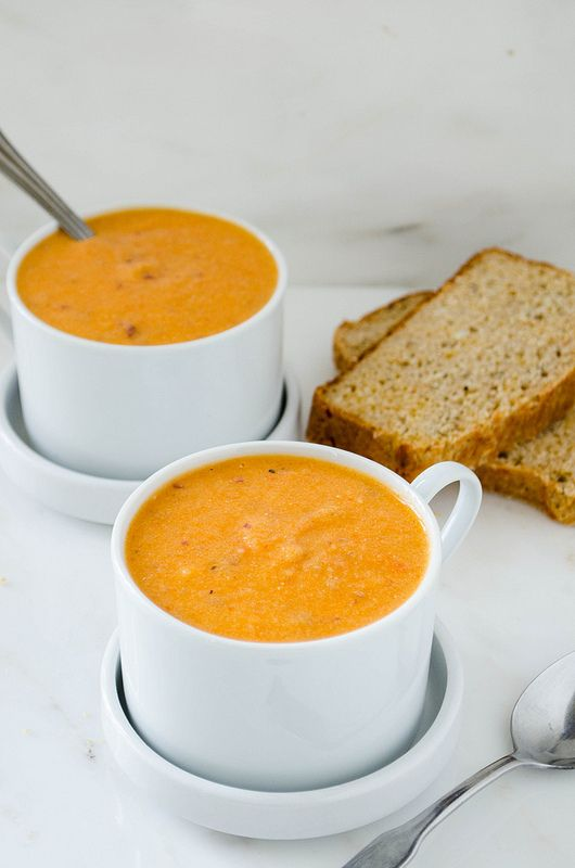 Roasted Red Pepper Potato Soup | cooking ala mel