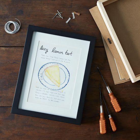 Cute idea - Food52's Lazy Mary's Lemon Tart Recipe Print