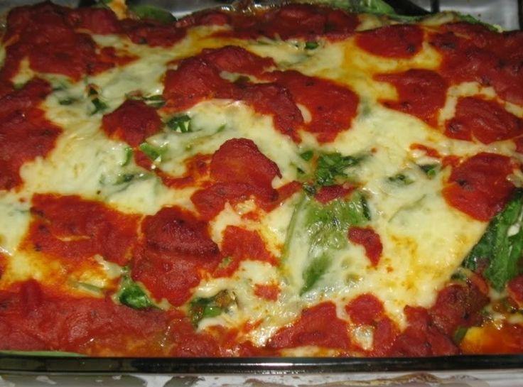 Eggplant Spinach Ricotta Bake | Dinner ideas | Pinterest