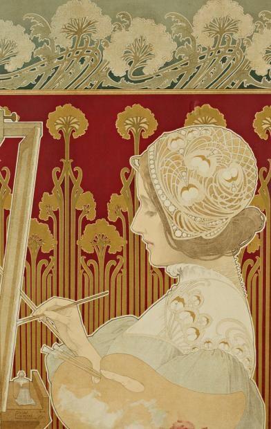 Art Nouveau :: La Fiancée de la Nuit, Henri Privat-Livemont, 1901