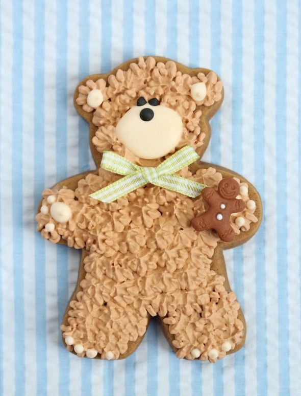cutest cookie ever teddy bears perfect for baby showers teddy bear