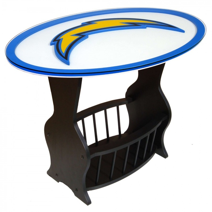 San Diego Chargers Chair: Fan Creations NFL Logo End Table NFL Team: San Diego