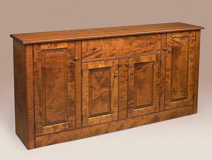 Sideboard Buffet Tiger Maple Wood Cabinet Dining  : 0c14b04fa533b4f83282a71328abb002 from pinterest.com size 736 x 556 jpeg 66kB
