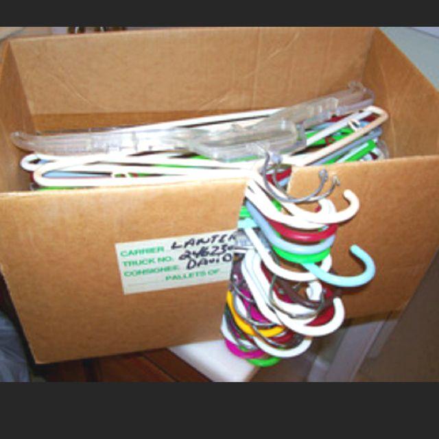 DIY hanger storage box | Storage | Pinterest