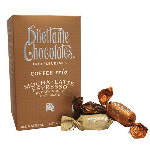 Coffee Trio Truffle Crèmes in Dark & Milk Chocolate - Mocha, Latte ...