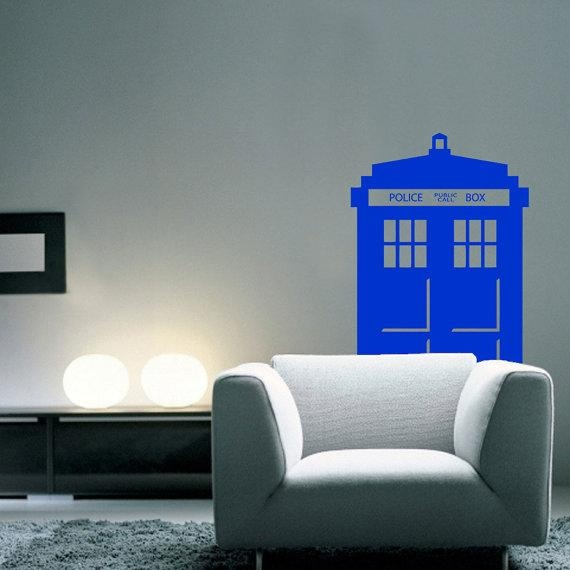 doctor who tardis wall decal geeky interiors accessories pinter