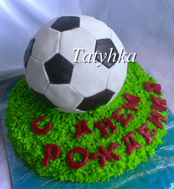 Пошаговое торт футбольный мяч