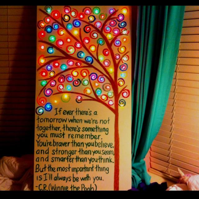 Christmas Light Canvas   Christmas Ideas