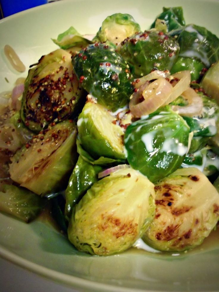 ... Vegan) Kitchen: Dijon-Braised Brussels Sprouts with Coconut Cream
