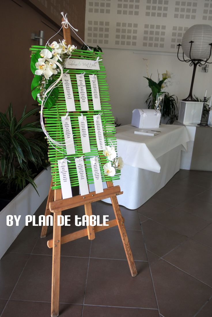 Thème Zen - Orchidée (c) Plan de Table  Décoration mariage ...