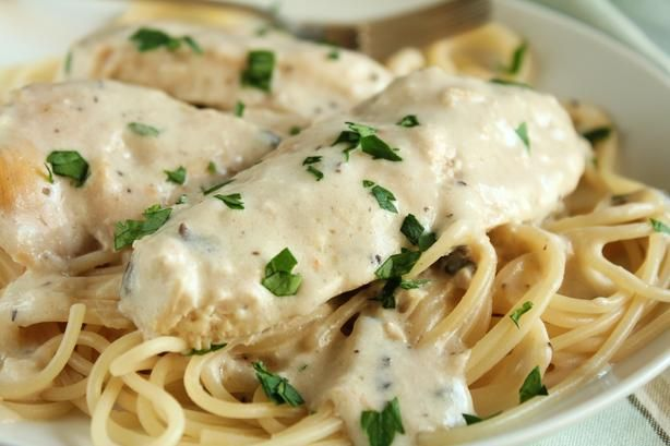 Chicken Farfalle With Mushrooms & Chives Recipes — Dishmaps