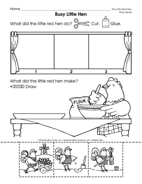 Pin Little Red Hen Sequencing Printables on Pinterest