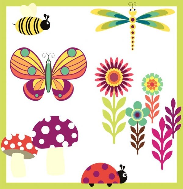Garden set 1 clip art luvly marketplace premium design resources