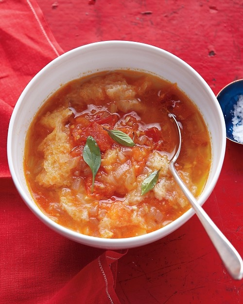 Tomato-Bread Soup - Great way to use up stale bread and very ripe ...