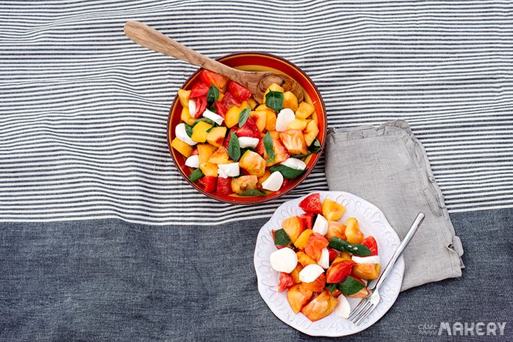 Nectarine and Heirloom Tomato Salad | Gluten-Free Delicious Diet | Pi ...