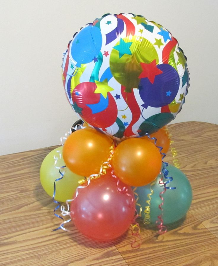 Colorful balloon centerpiece balloons pinterest