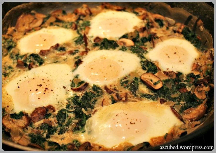 More like this: baked eggs , mushrooms and eggs .
