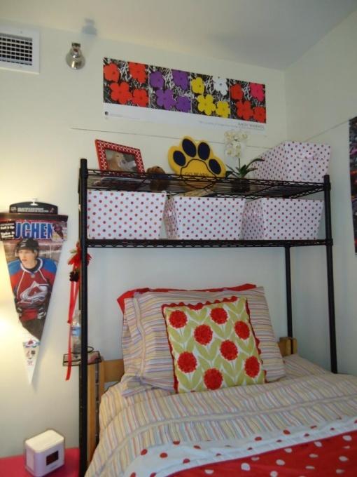 Over The Bed Shelf Dorm Decorating Pinterest