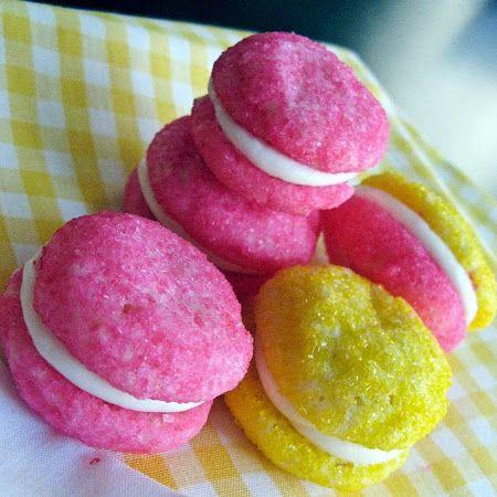 Glittering Lemon Sandwich Cookies Recipe | Cookies | Pinterest