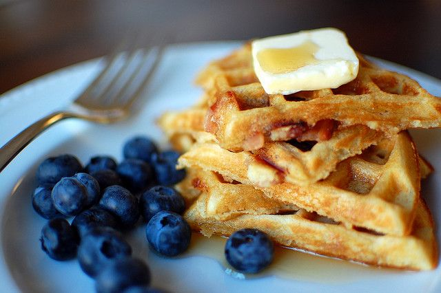 Brown Sugar Bacon Waffles - Make with Turkey Bacon