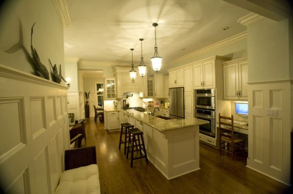 Narrow kitchen with island dad 39 s new kitchen ideas for Narrow kitchen island ideas