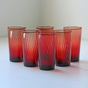 Cranberry Glass tumblers