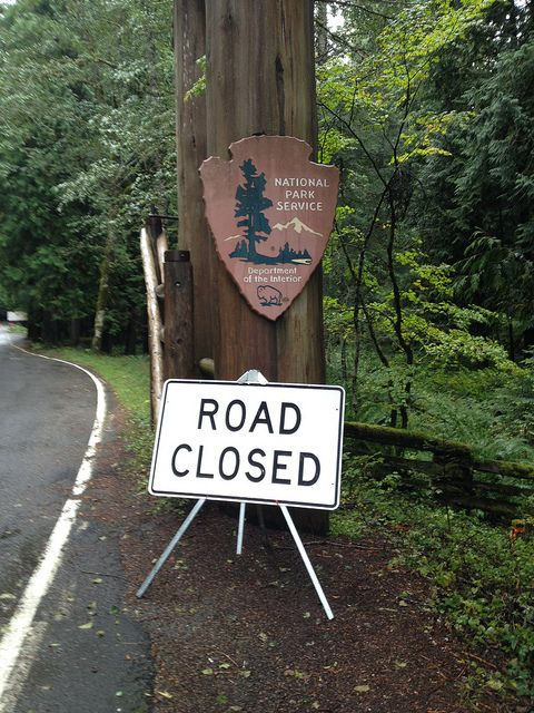 Mt. Rainier National Park: Closed Due to Government Shutdown by NPCA Photos, via Flickr. #KeepParksOpen