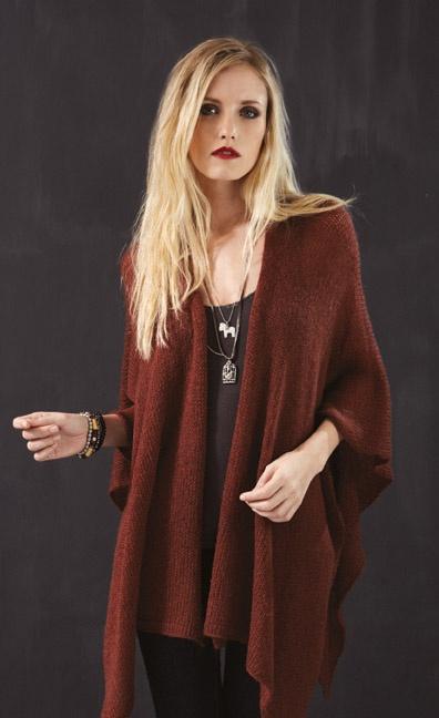 Women'S Rust Colored Sweater - Sweater Grey
