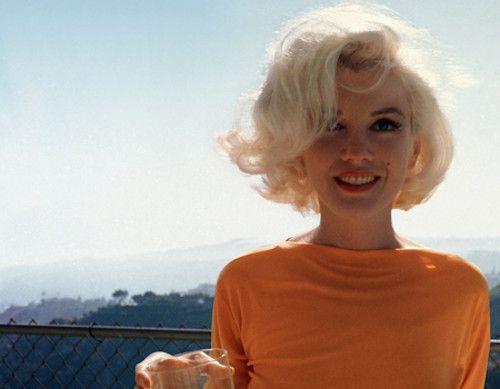 Marilyn Monroe in orange...