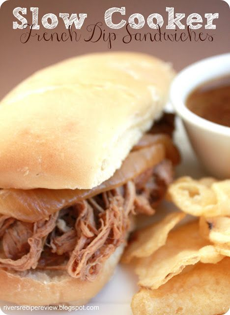Slow Cooker French Dip Sandwiches | Slow cooked Goodness | Pinterest