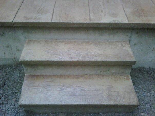 Wood Pattern Stamped Concrete Pattern : Stamped concrete in wood pattern stamp