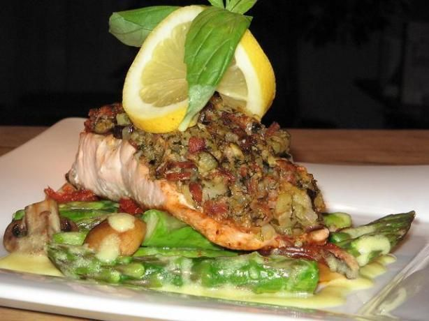 Grilled Trout Stuffed w/Bacon & Eggplant..try zuchinni instead of ...