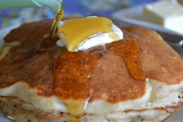 The View from Great Island | Banana Buttermilk Pancakes (with pecans ...