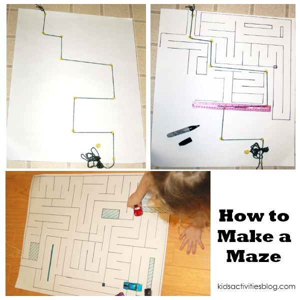 how to draw a simple maze