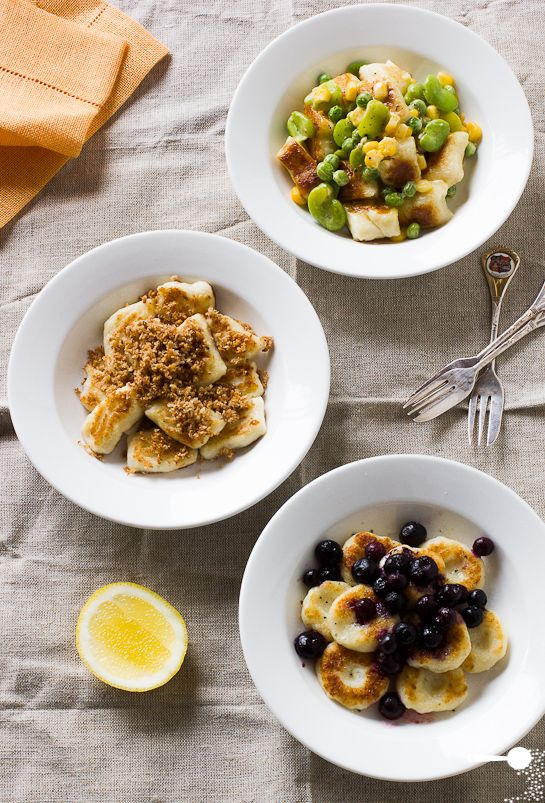 Simple Potato Gnocchi with Toppings + the photography is pretty fab.
