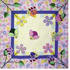Making a Baby Quilt with a Free Pattern Easy - Ladybug Landing